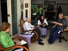Fidel y Carter en La Habana