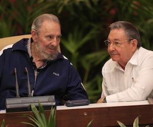 Asistió  Fidel a la sesión final del VI Congreso del Partido