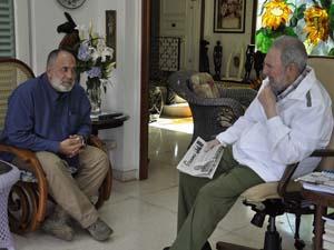 Conversa Fidel con el periodista venezolano Mario Silva