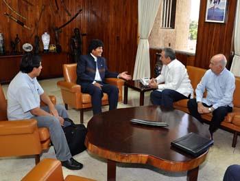 Recibió Raúl a Evo Morales
