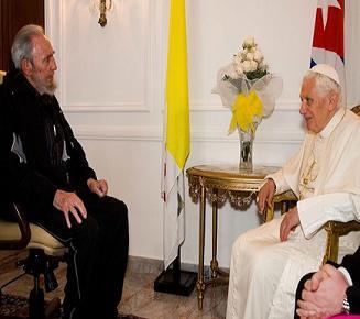 Sostienen encuentro Fidel y el Papa Benedicto XVI
